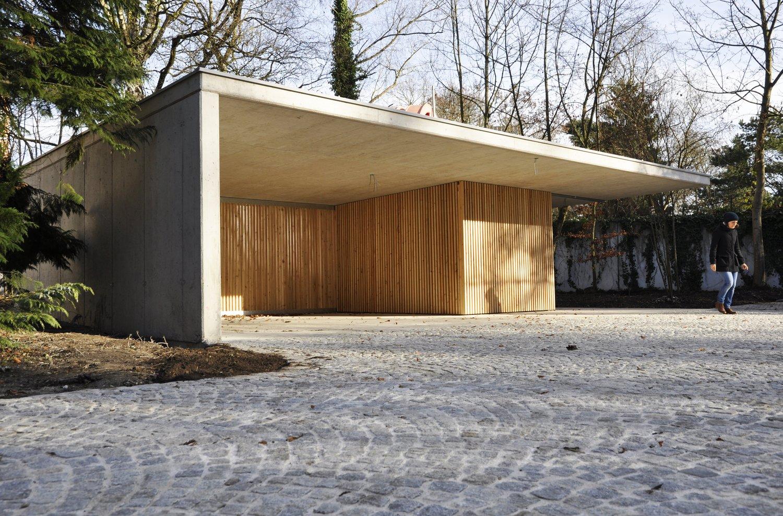 Landhaus F Carport Hofbauer Liebmann Wimmesberger Architekten
